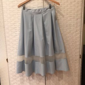 Topshop below the knee skirt with tulle panel